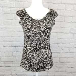 Kische Cap Sleeve Leopard Shirt
